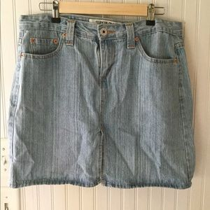 Levis Juniors Size 11 Denim Skirt Blue Jean 518